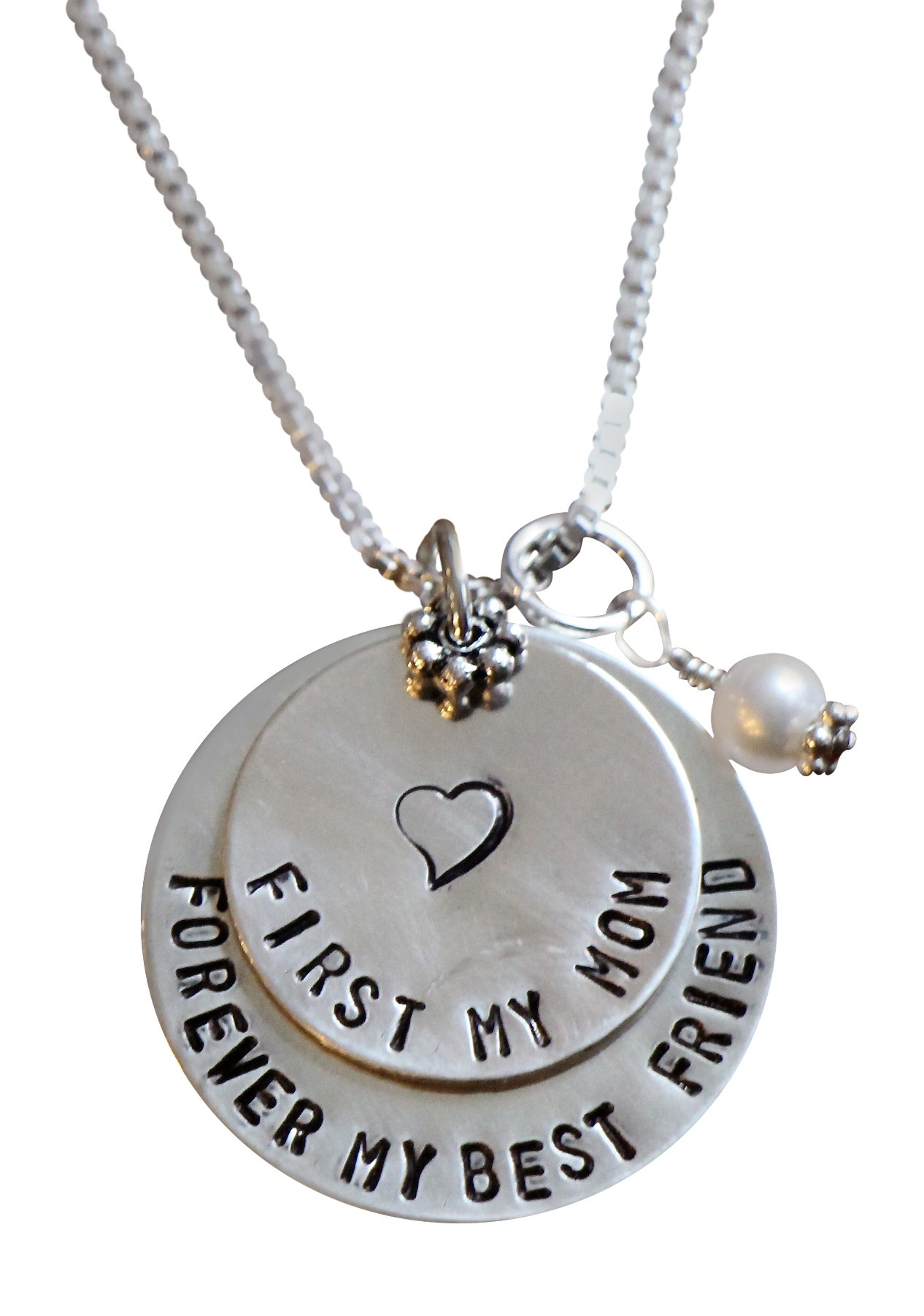 Wedding Personalized Necklace- First My Mother Forever My Best Friend - Christmas or Mother's Day Gift