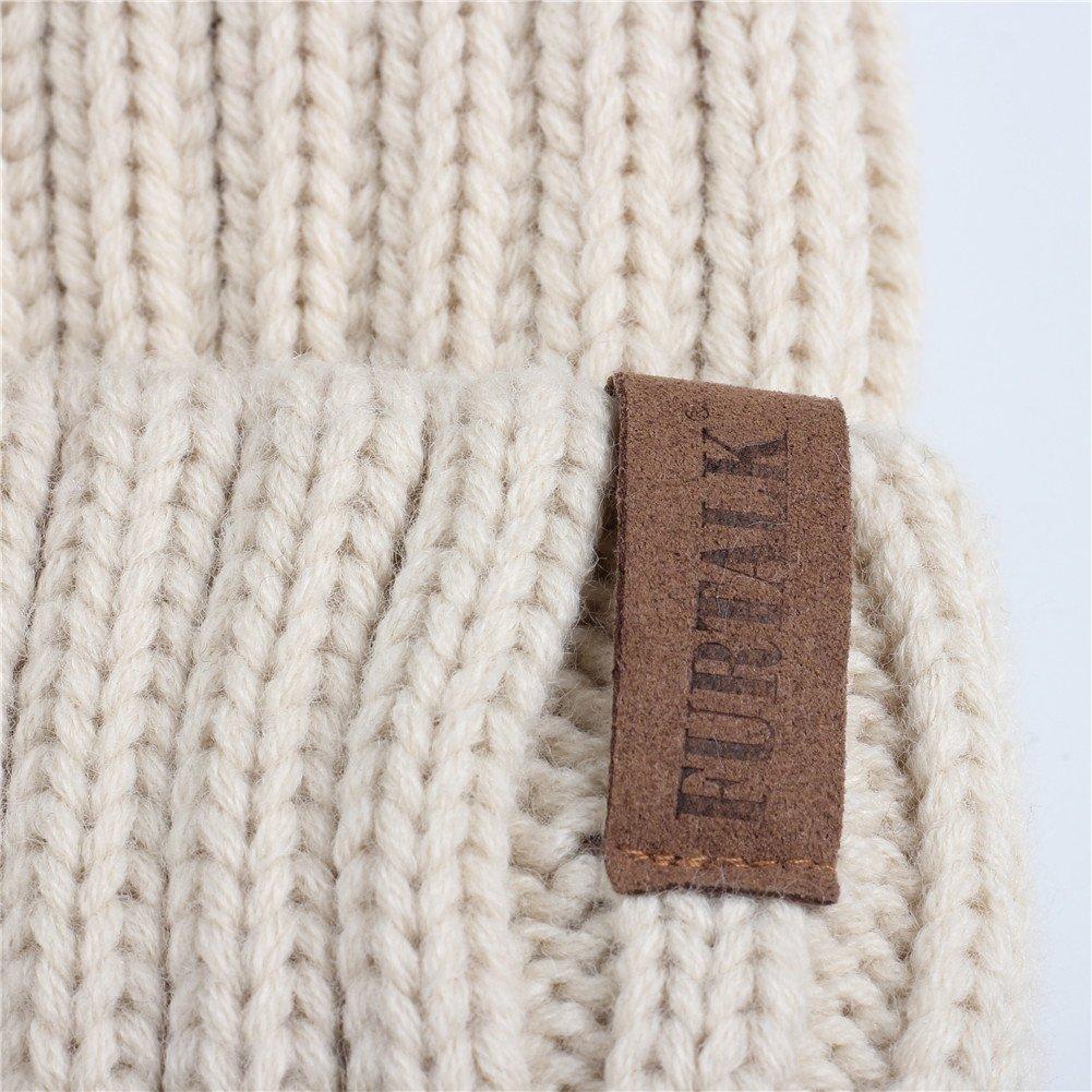 FURTALK Kids Winter Pom Pom Hat - Knitted Beanie Hats for Children Girls Boys Original by FURTALK (Image #3)