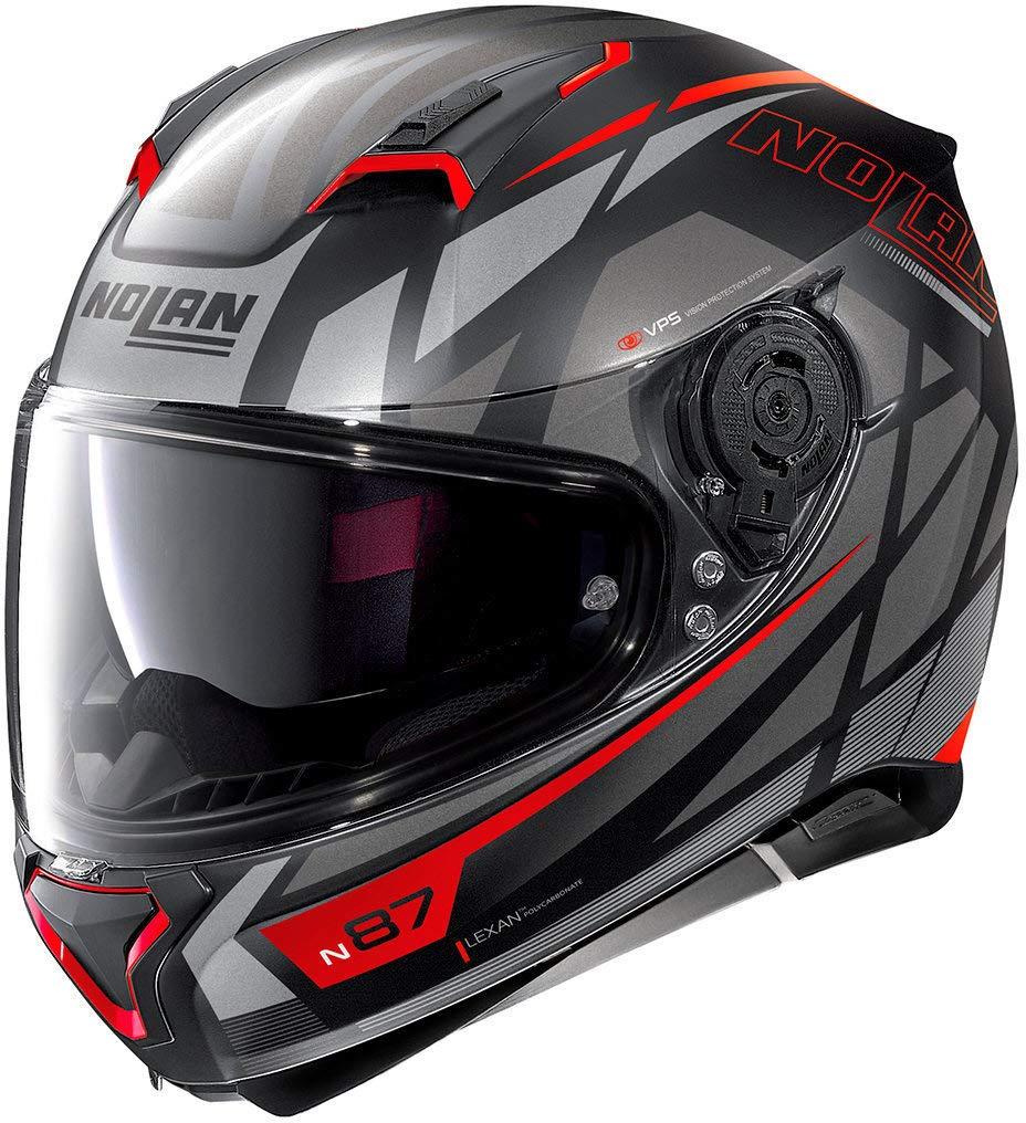 62 Nolan N87 Originality N-Com Helm Schwarz Matt//Wei/ß XL