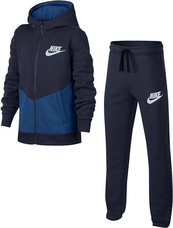 Nike NSW BF Core Chándal, niños, Azul (Obsidian/Gym Blue/Pure ...