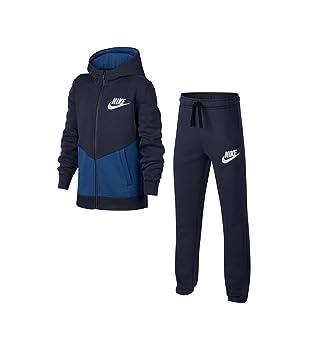 e017f9ed4ebed Nike NSW TRK BF B Core Survêtement Enfants XL Multicolore - Bleu Platine  (Obsidian