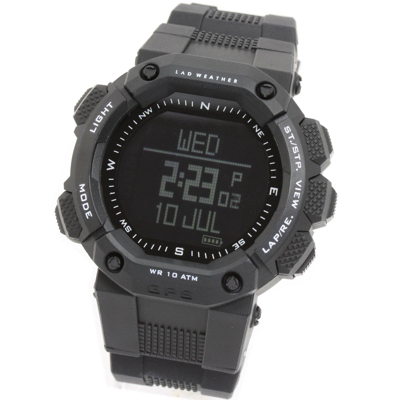 [LAD WEATHER]ラドウェザー 腕時計 GPS アウトドア/ジョギング/ランニング/フィットネス/gps ジーピーエス メンズ時計 B00INRUVCE