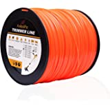 A ANLEOLIFE 5-Pound Commercial Square .095-Inch-by-1280-ft String Trimmer Line in Spool,with Bonus Line Cutter, Orange