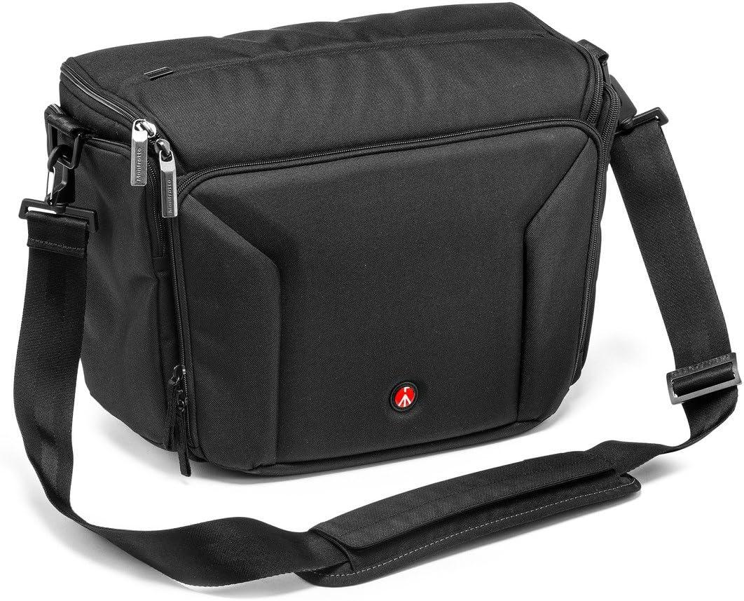Manfrotto Professional Shoulder Bag 40 Bolsa de Hombro Profesional para cámara DSLR Pro, Negro