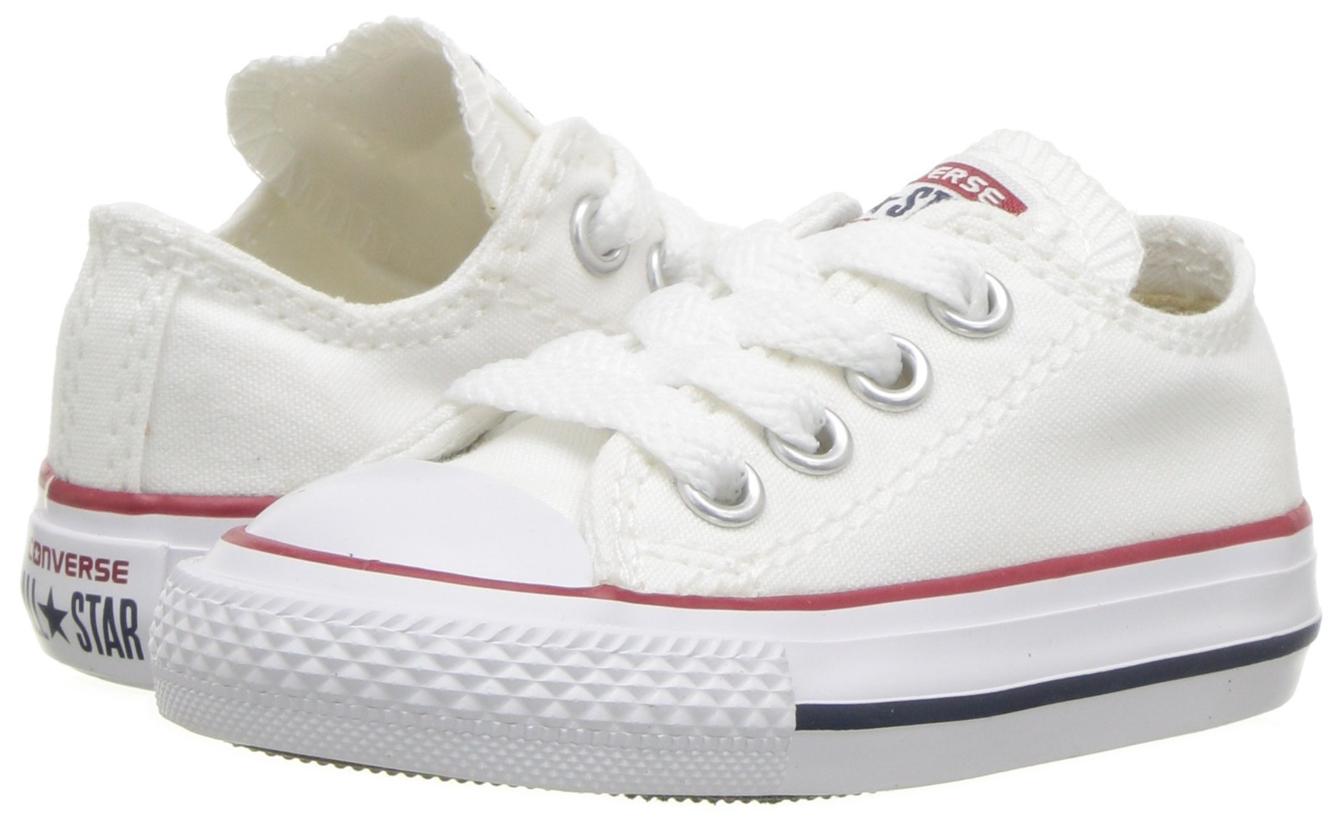 Converse Chuck Taylor All Star Canvas Low Top Sneaker, Optical White, 13.5 M US Little Kid by Converse (Image #6)