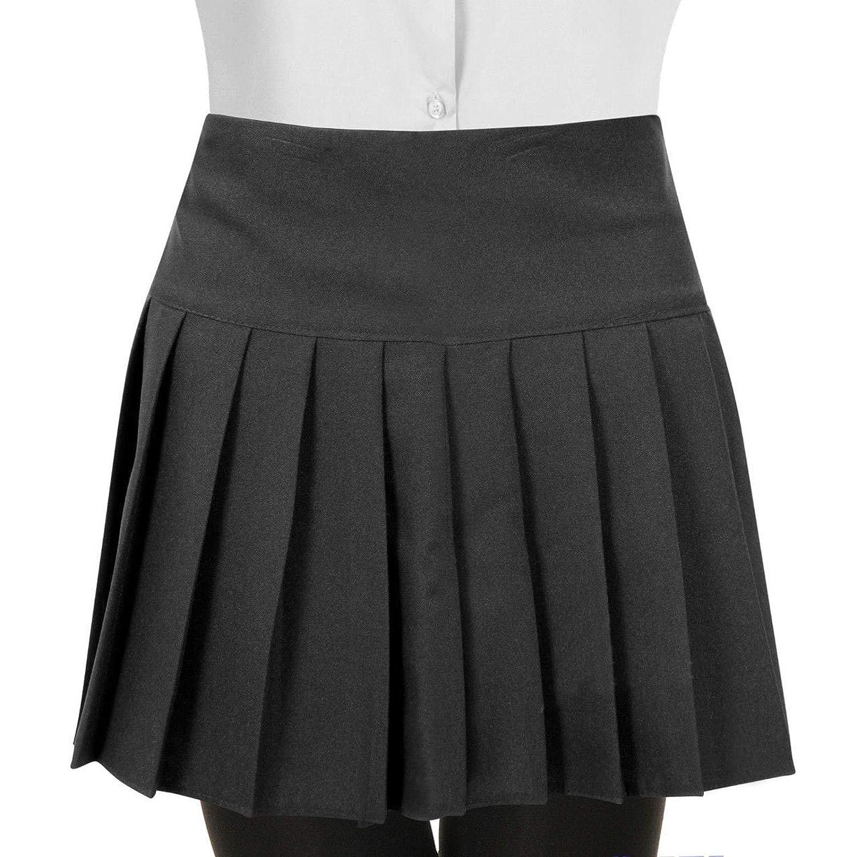 Girls Kids Children Pleated Back Zip School Uniform Britney Skirt 2-16 Years