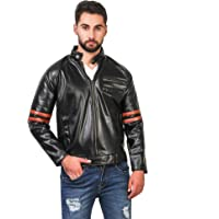 Girls Shopping Full Sleeve Solid Leather Jacket for Men's|Casual Jacket|with Zipper |Stylish & Regular Fit |Size -M, L, XL, XXL.