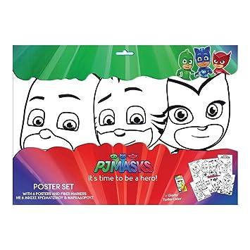 GUIZMAX 6 Grandes Dibujo MÁSCARAS DE PJ (para Colorear) Disney 6 fieltros