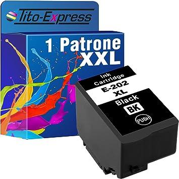 Tito Express Platinumserie 1 Patrone Xxl Kompatibel Mit Epson 202xl 202 Xl Geeignet Für Epson Expression Premium Xp 6000 Xp 6005 Xp 6100 Xp 6105 Black 16ml Xxl Inhalt Bürobedarf Schreibwaren