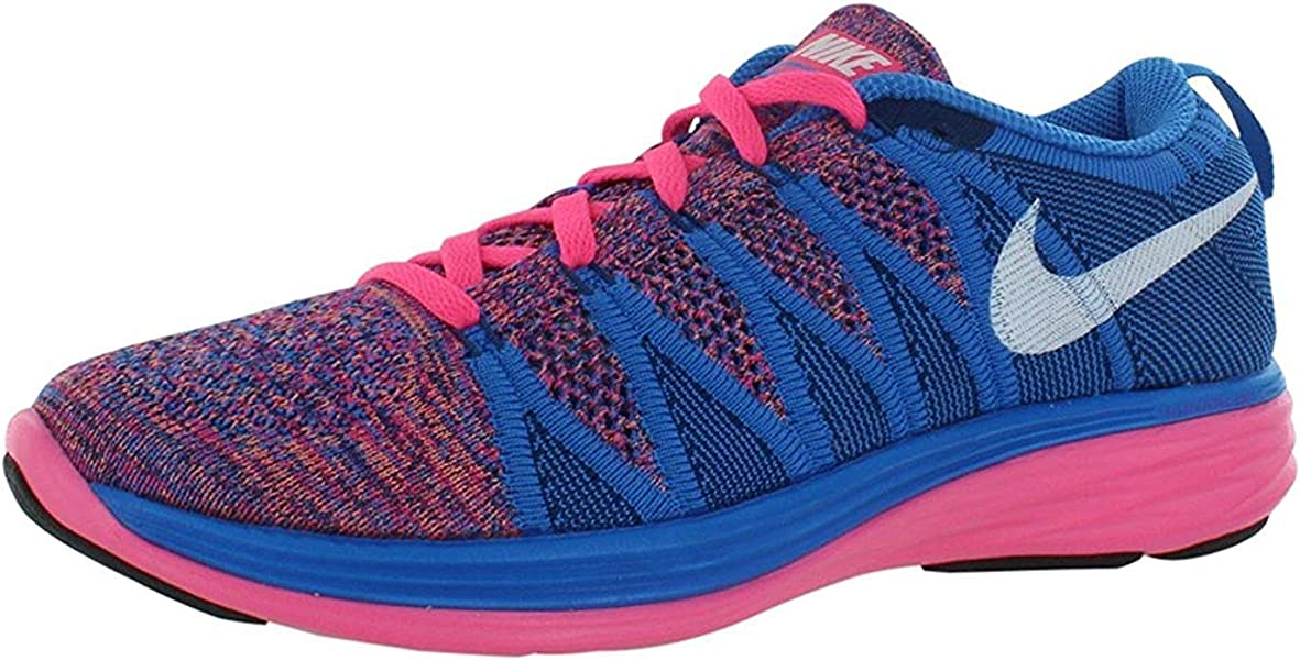 pretty nice d3e57 0a30a Flyknit Lunar 2 Women s Running Shoes, Pink Flash White-Photo Blue-Brave  Blue, 8 B(M) UK 42.5 B(M) EU