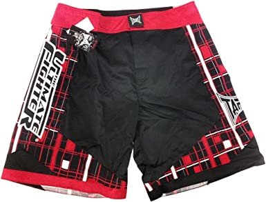 Tapout Highlight Training Shorts Black//Red Small