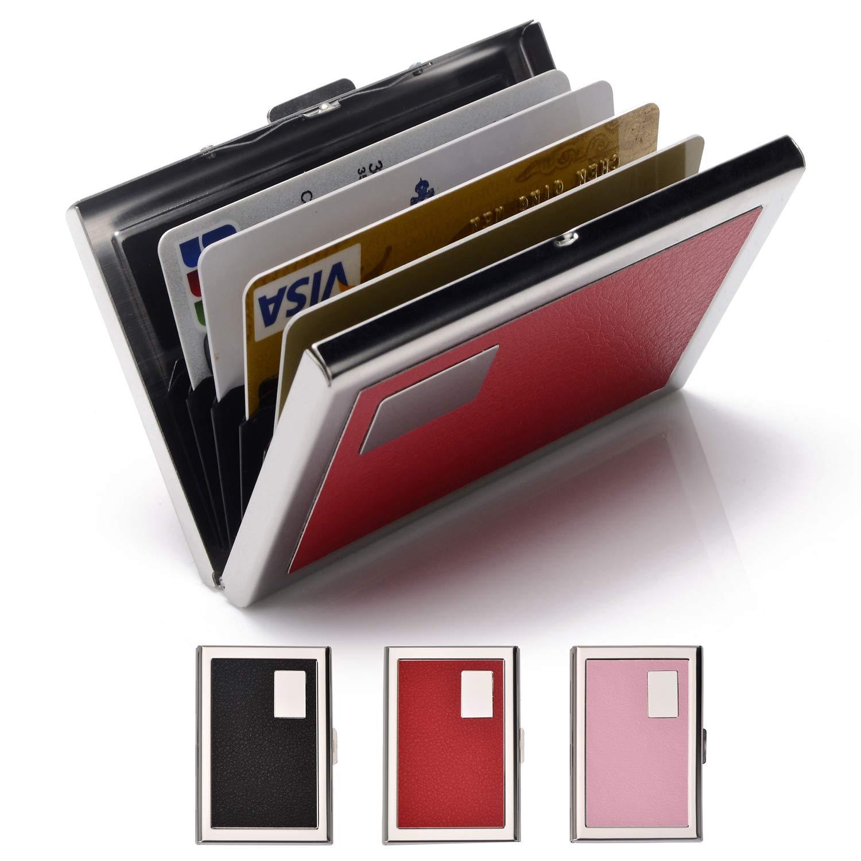 Credit Card Holder Stainless Steel Credit Card Case Metal ID Card Holder RFID Wallets for Women & Men EASTNIGHTS.LLC