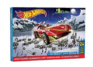Calendrier De L Avent Voiture.Mattel Cbl07 Calendrier De L Avent Hot Wheels 8 Voitures