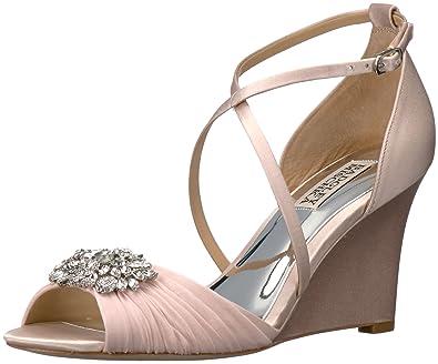 4b413898b42 Badgley Mischka Women s Tacey Wedge Sandal Light Pink 6.5 ...