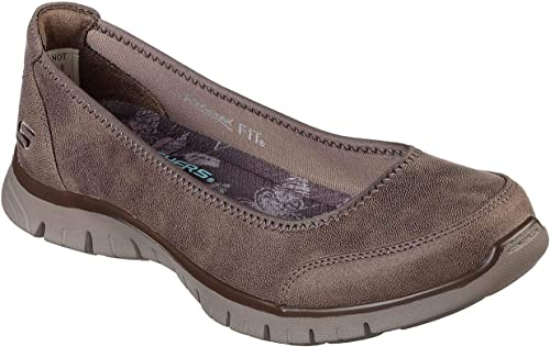 Skechers Relaxed Fit EZ Flex Renew Sweet Picture Womens Slip On Skimmer Sneakers