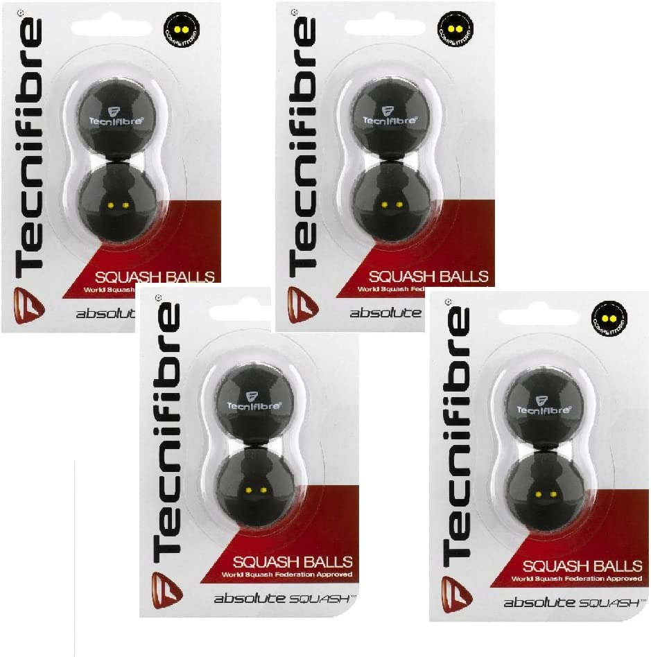 2 Ball Pack Tecnifibre Red Dot Squash Balls