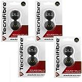 Tecnifibre doble punto amarillo pelotas de squash–Paquete de 8