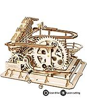 ROKR Mechanical Gears DIY Building Kit Modelo mecánico Kit de construcción con Bolas para Adolescentes y Adultos (Waterwheel Coaster)