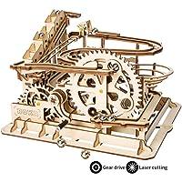 ROKR mécanique en Bois mécanique de Puzzle de 3D avec Le Jeu de Bille de Brainteaser pour des Enfants, des Adolescents et des Adultes (Waterwheel Coaster)