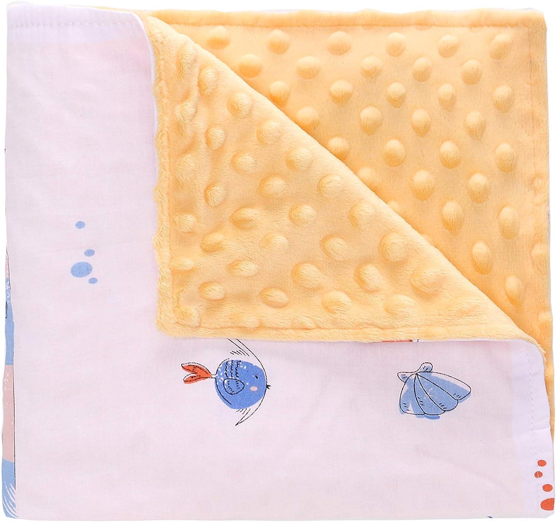 Miracle Baby Manta Coralina Bebe Algodón,Manta Bebe Invierno Suave y Confortable,Swaddle Wrap Saco de Dormir para Niños78*102(Pequeño,La Sirena)