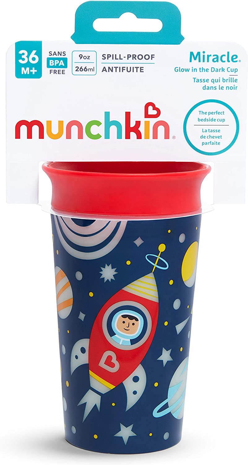 Astronaut Munchkin 9oz Miracle 360 Degree Glow in the Dark Sippy Cup