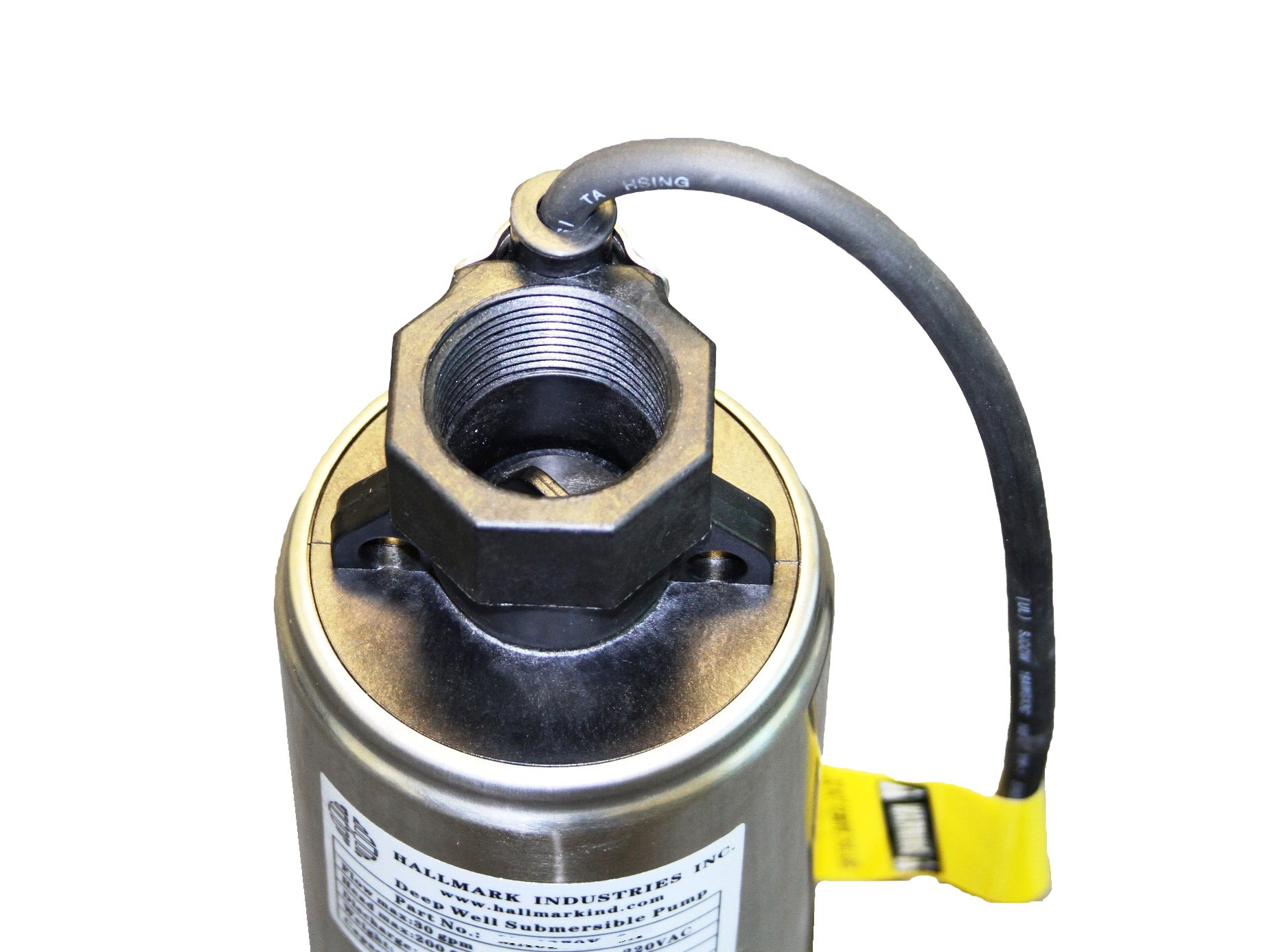 Hallmark Industries MA0343X-4A Deep Well Submersible Pump, 1/2 hp, 230V, 60 Hz, 25 GPM, 150' Head, Stainless Steel, 4'' by Hallmark Industries (Image #7)