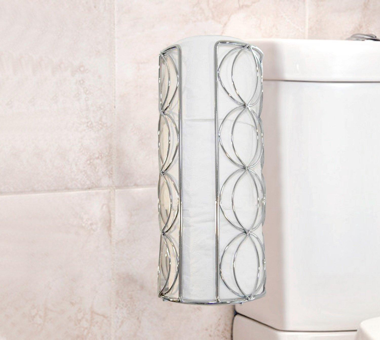 Vanderbilt Home Freestanding Toilet Paper Holder in Silver - Circles