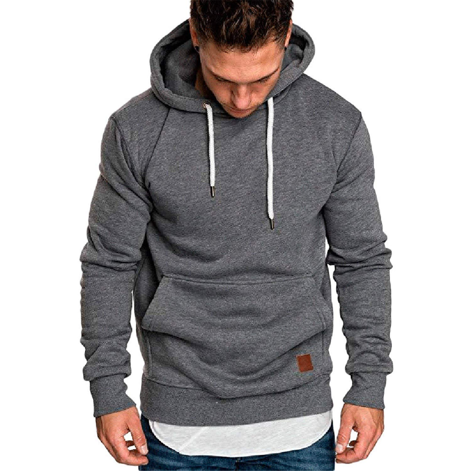 33fd77604 DarkGrey elephanted Sweater Men New Hoodies Brand Solid Hoodie Hoodie Hoodie  Men Black Red Big Size Poleron Hombre 0925 a81081