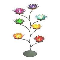 Hermosa grande de flor de loto Chakra Rainbow