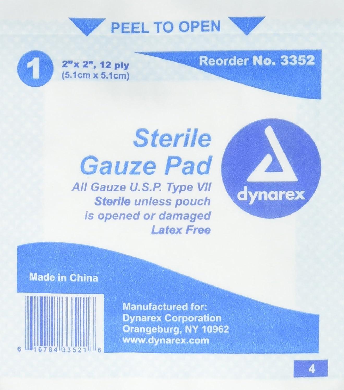 Amazon.com: GAUZE PADS ST 2X2 12PLY ***DYN Size: 100: Health ...