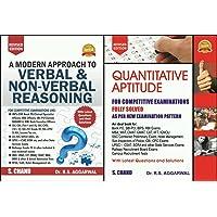Quantitative Aptitude + Verbal & Non-Verbal Reasoning for Competitive Examinations (2 BOOKS SET)