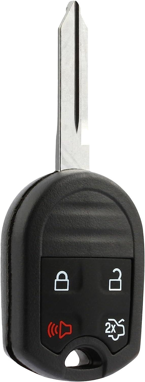 Car Key Fob Keyless Entry Remote fits Ford, Lincoln, Mercury, Mazda (CWTWB1U793 4-btn) - Guaranteed to Program
