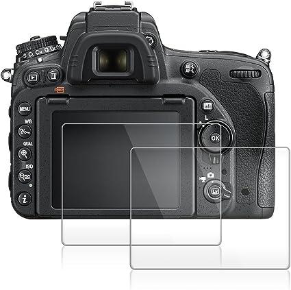 AFUNTA Protector de Pantalla para Nikon D500, 2 Paquete la Cámara ...