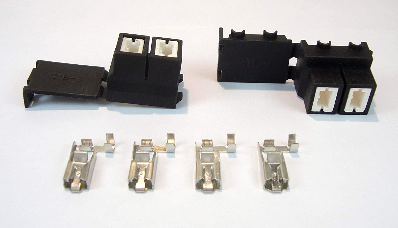 2x H7 Stecker Gewinkelt Anschluss Fassung Sockel Lampensockel Auto Kabel Kfz Lkw Motorrad Auto