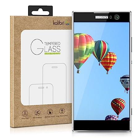 kalibri Sony Xperia XA2 Folie - 3D Glas Handy Schutzfolie für Sony Xperia XA2 - Auch für gewölbtes Display
