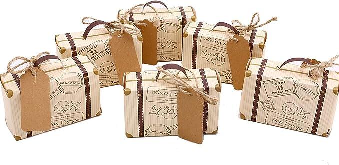 12 Gold Black Wedding Guest Party Favor Box 2 58 x 2 58 x 2