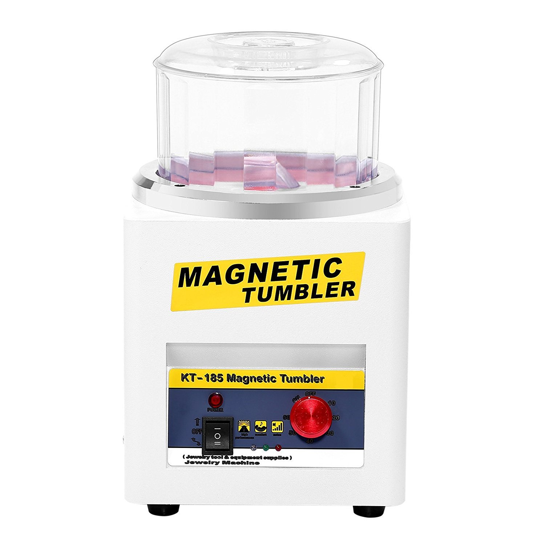 BAOSHISHAN KT-185 110V/220V 磁気バレル研磨機600g 磁気タンブラー マグネチックポリッシャー タイマー付 正反転可能 バリ除去 金属磨き ジュエリー工具 研磨ツール (220V) B07B4RTZ25