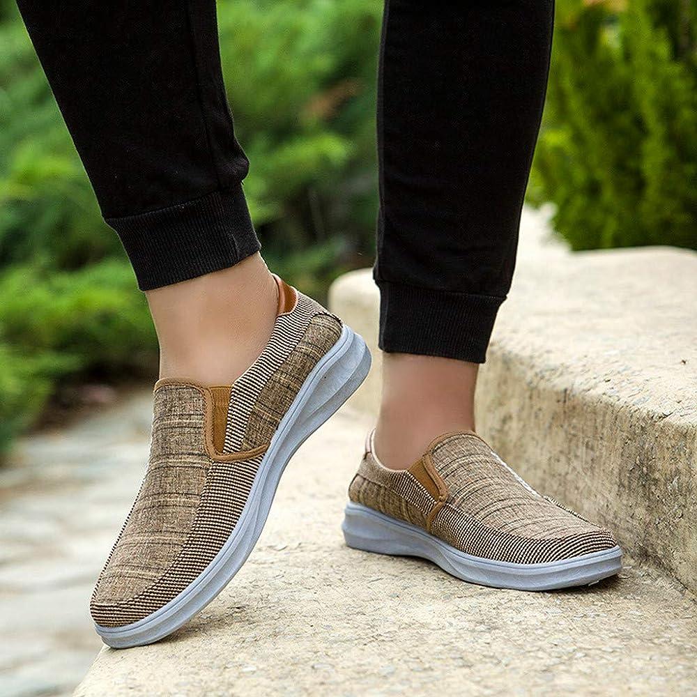 fb2460da4320 DENER❤ Men Canvas Casual Walking Shoes Slip on Loafers, Round Toe ...