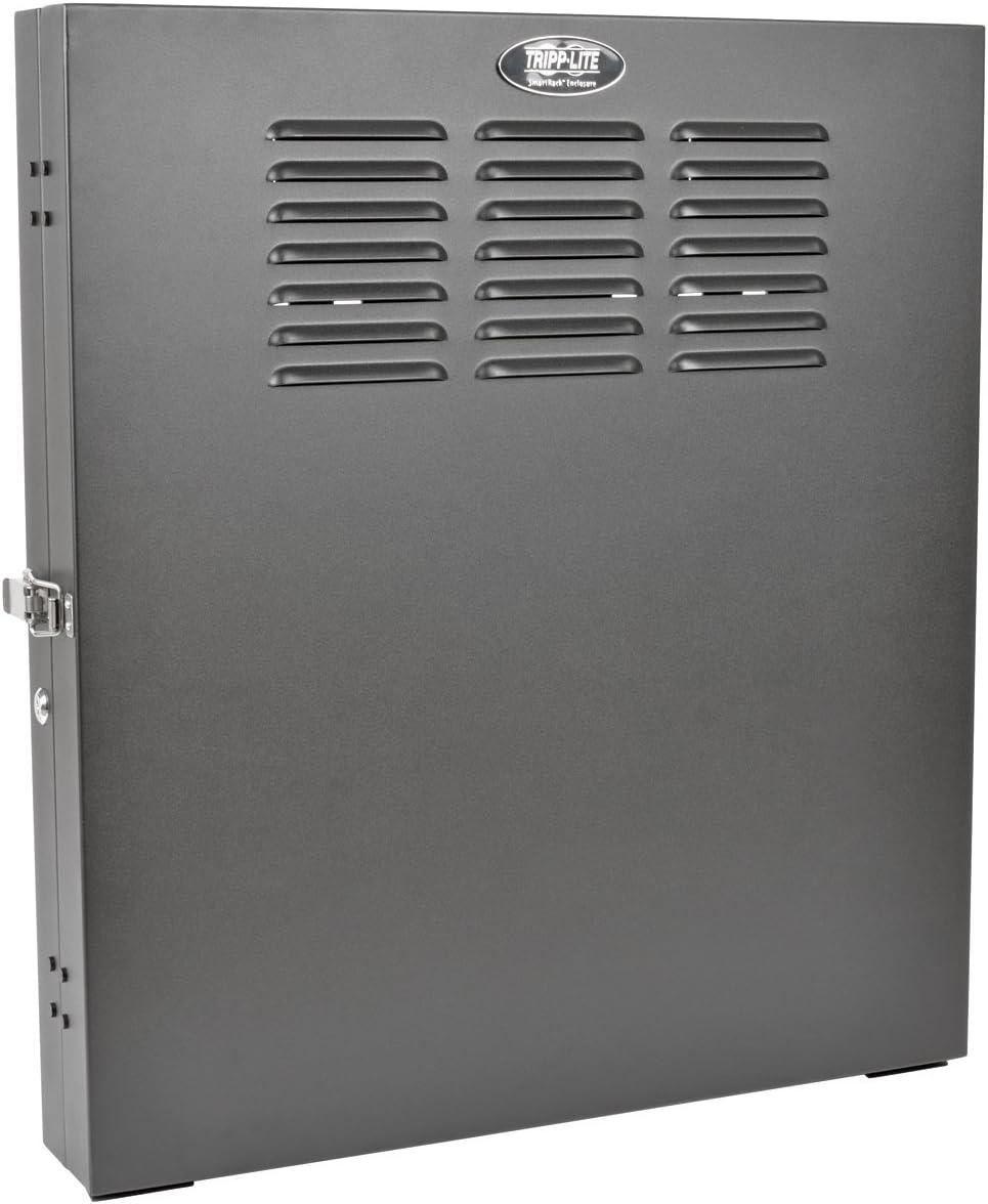 "Tripp Lite 2U Vertical Wall Mount Rack Enclosure Cabinet, Low Profile, Switch Depth, 20"" Deep, Black (SRWF2U)"