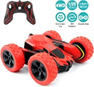 RC Cars Stunt Car Toy, Amicool 4WD 2.4Ghz Remote Control Car Double Sided Rotating Vehicles 360° Flips, Kids Toy Cars for Bo