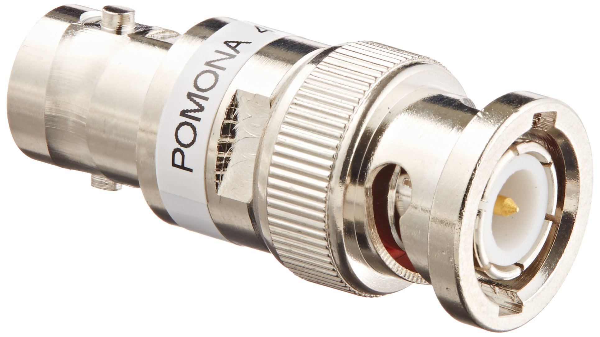 Pomona 4108-6DB Brass BNC Male and Female Attenuator, 50 ohms Nominal Impedance, 10db Attenuator