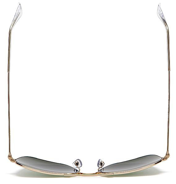 cec3524e64efce Amazon.com  Ray-Ban CARAVAN - ARISTA Frame CRYSTAL GREEN Lenses 58mm  Non-Polarized  Ray-Ban  Clothing