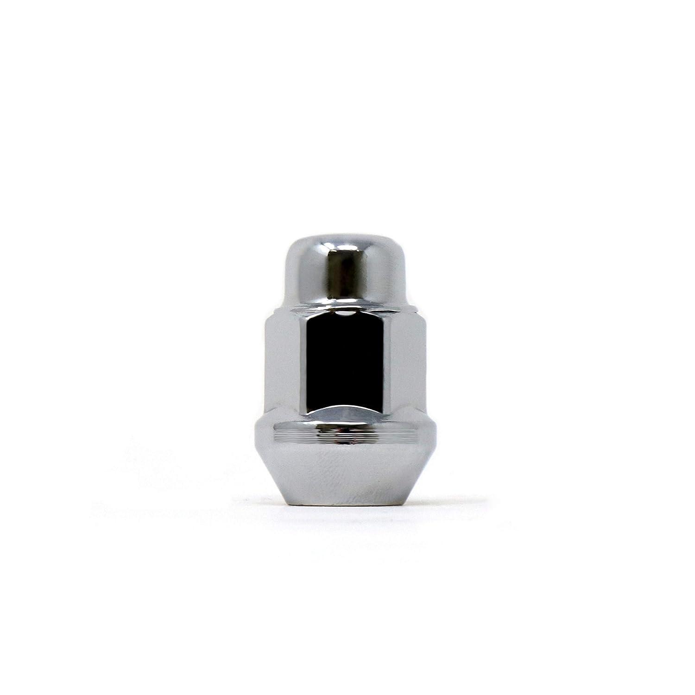 White Knight Wheel Accessories Pack of 20 White Knight 1706S-20AM Chrome Finish 12mm x 1.25 Thread Size Bulge Acorn Lug Nut,