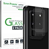 amFilm Back Camera Glass Screen Protector for Samsung Galaxy S20 Ultra Rear-Facing (Back) Camera Protector (2 Pack)
