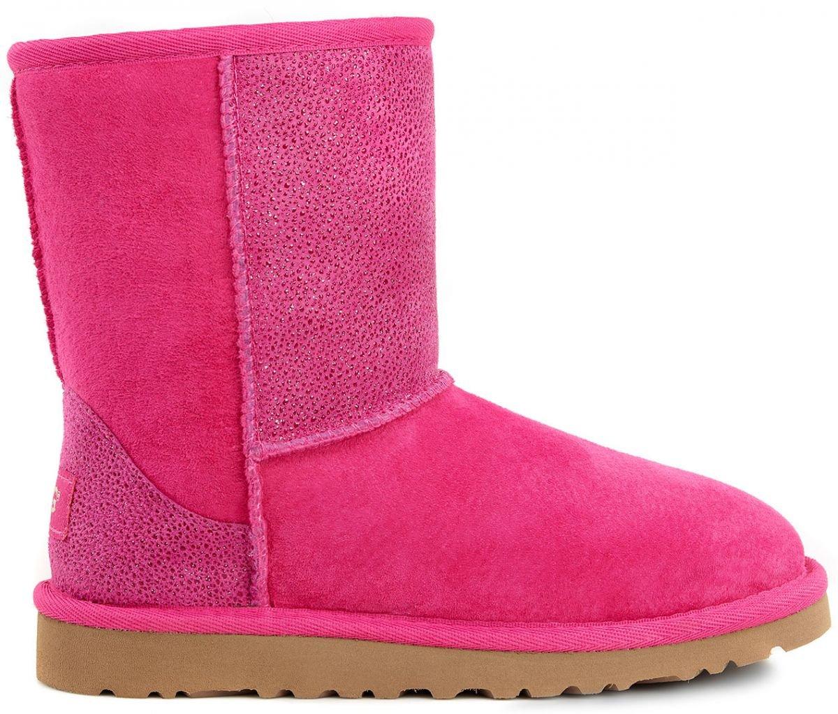 UGG Kids Classic Short Serein Boot Diva Pink Size 3 M US Little Kid