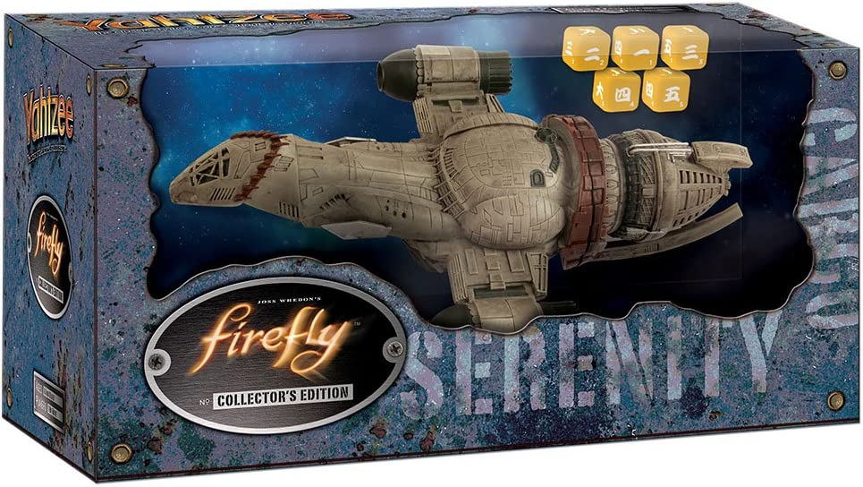 Yahtzee Firefly Themed Collector/'s Edition w// Serenity Spaceship Dice Cup