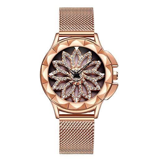 Relojes para Mujer Reloj Damas de Malla Impermeable Relojes de Pulsera de Cuarzo Analógico para Mujer