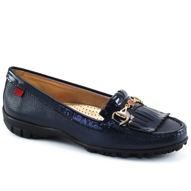 Marc Joseph New York Women's Fashion Shoes Lexington Golf Navy Grainy/Navy Patent Moccassin Size 11 by Marc Joseph New York