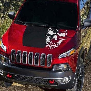 Amazoncom Fochutech Car Window Body Sticker Skull Skeleton Rear - Car window vinyl graphics