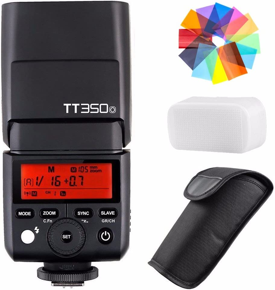 Godox TT350O 2.4G HSS 1/8000s TTL GN36 Camera Flash Speedlite for Olympus/Panasonic Mirrorless Digital Camera w/EACHSHOT Color Filters